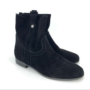 Frye &. Co Black Sophie Short Ankle Slouchy Bootie